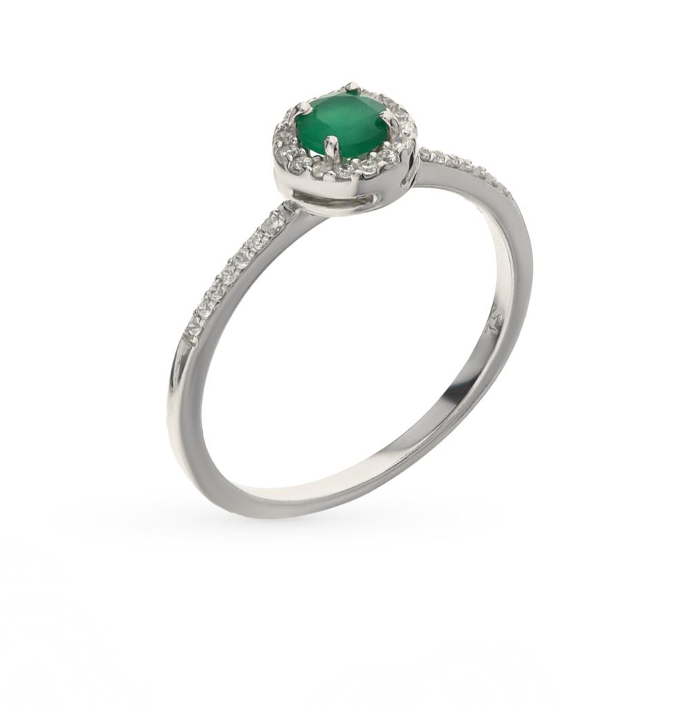 Фото «серебряное кольцо с ониксами и фианитами»