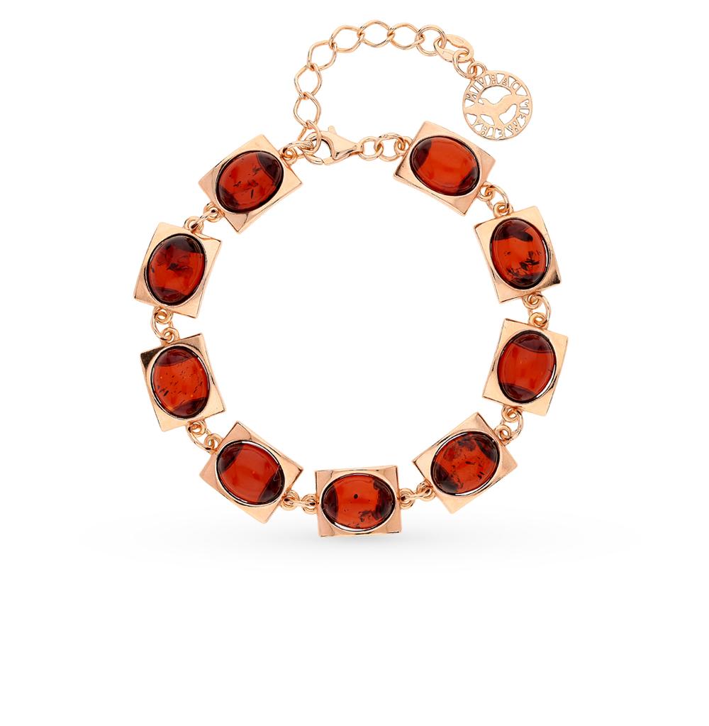 Фото «серебряный браслет с янтарём»