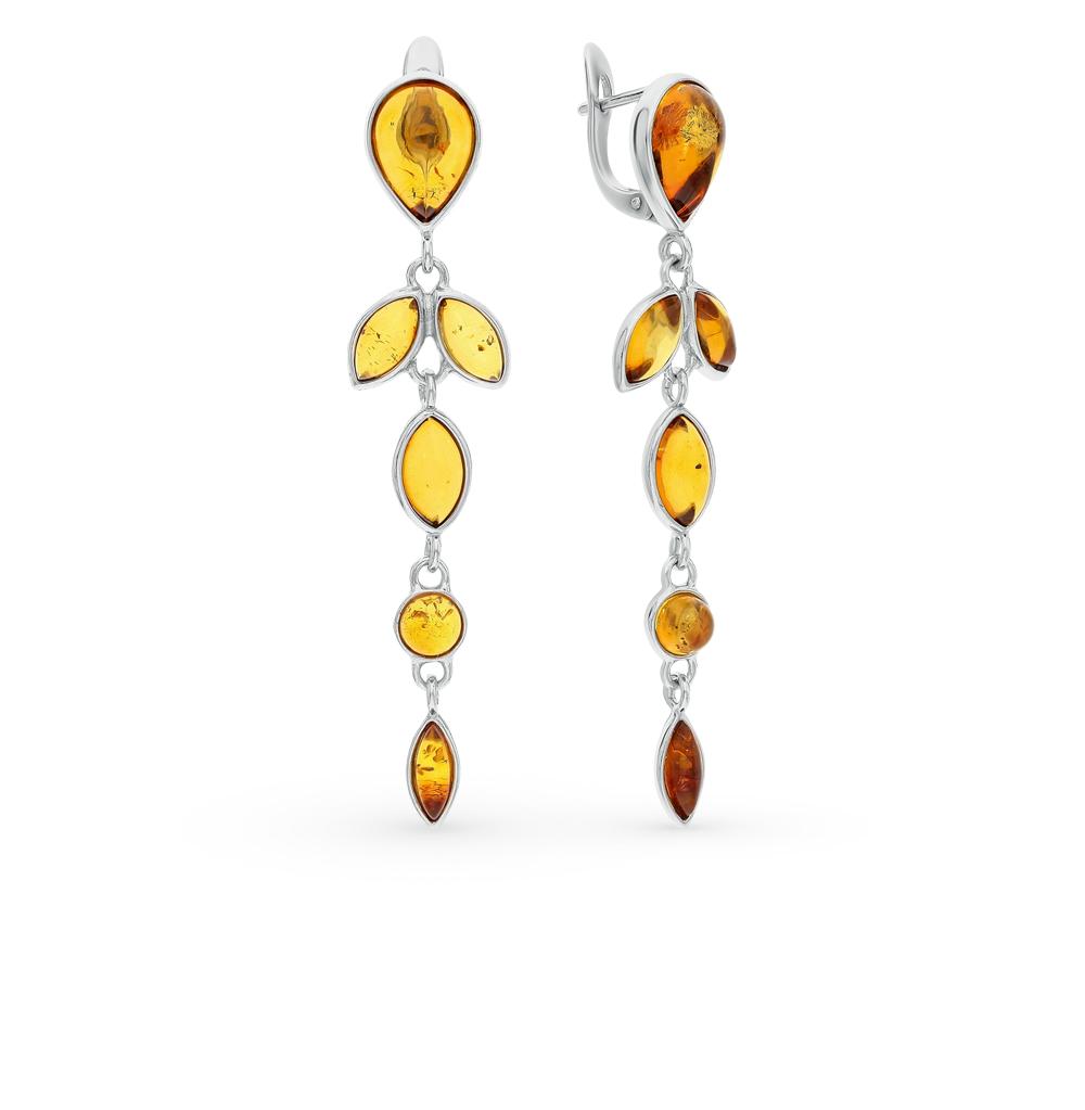 Фото «серебряные серьги с янтарём»